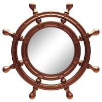 Зеркало-штурвал настенное «Бернт» Медь