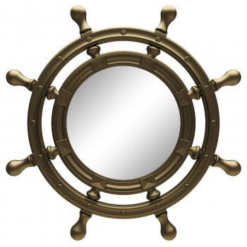 Зеркало-штурвал настенное «Бернт» Бронза