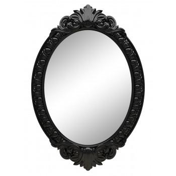 Овальное настенное зеркало в чёрной раме «Эджил» Чёрный глянец