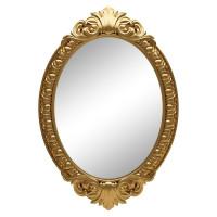 Овальное настенное зеркало в золотой раме «Эджил» Золото королевское