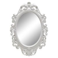 Овальное настенное зеркало в белой раме «Лока» Белый глянец
