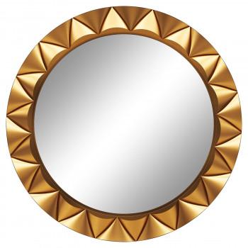Круглое настенное зеркало в раме «Эрленд» Золото
