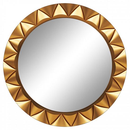 Круглое настенное зеркало в раме «Эрленд» Золото в интернет-магазине ROSESTAR фото