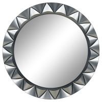 Круглое настенное зеркало в раме «Эрленд» Серебро хром