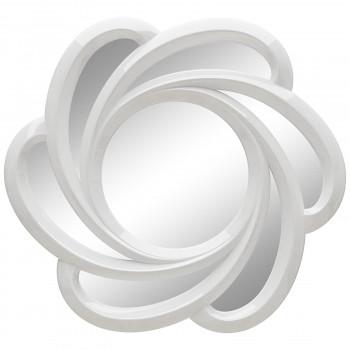 Зеркало солнце с лучами «Линн» Белый глянец