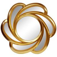 Зеркало солнце с лучами «Линн» Золото королевское