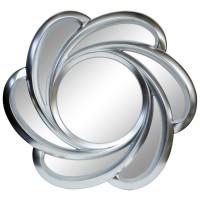 Зеркало солнце с лучами «Линн» Серебро хром