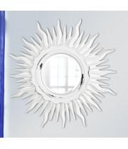 Зеркало солнце настенное «Ринд» лучи цвета Белый/шебби шик