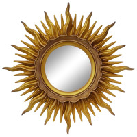 Зеркало солнце «Ринд» лучи цвета Золото/патина