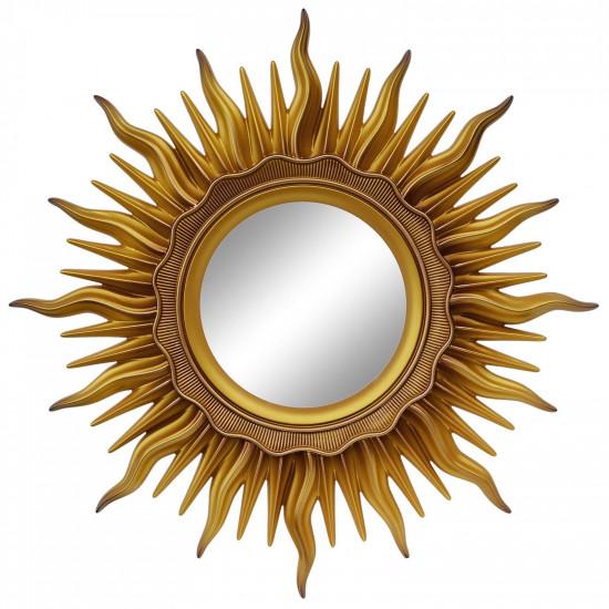 Зеркало солнце «Ринд» лучи цвета Золото/патина в интернет-магазине ROSESTAR фото