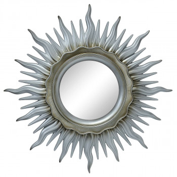 Зеркало солнце «Ринд» лучи цвета Серебро/патина