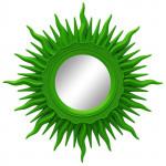Зеркала в зелёной раме
