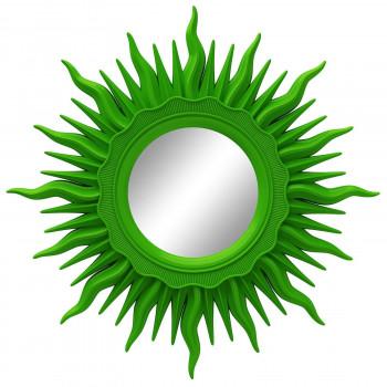 Зеркало солнце с лучами «Ринд» Зелёное