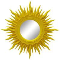 Зеркало солнце с лучами «Ринд» Жёлтое