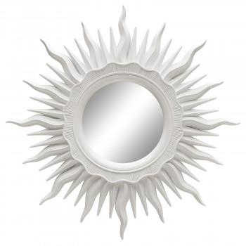 Зеркало солнце настенное «Ринд» лучи цвета Белый глянец