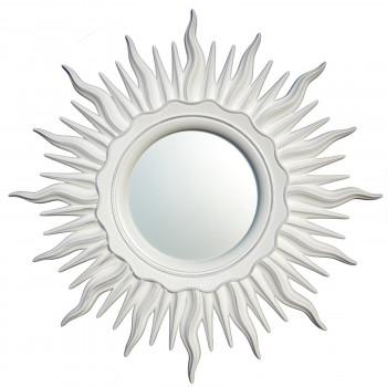 Зеркало солнце настенное «Ринд» лучи цвета Белый/серебро