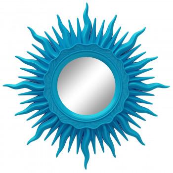 Зеркало солнце настенное с лучами «Ринд» Голубое