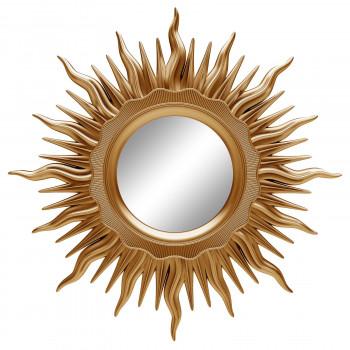 Зеркало солнце настенное «Ринд» лучи цвета Золото королевское