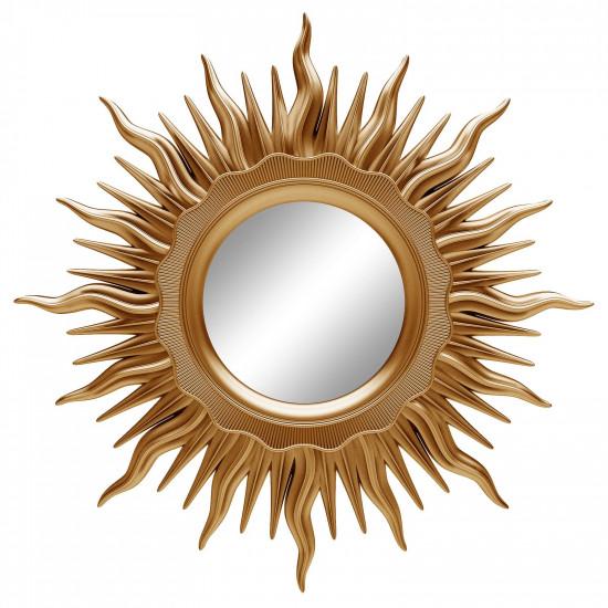 Зеркало солнце настенное «Ринд» лучи цвета Золото королевское в интернет-магазине ROSESTAR фото