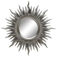 Зеркало солнце настенное «Ринд» лучи цвета Серебро хром