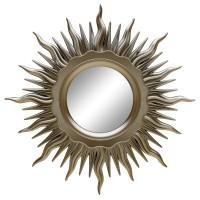 Зеркало солнце настенное «Ринд» лучи цвета Шампань