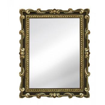 Зеркало настенное в раме «Лива» Венге/золото/окись