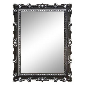 Зеркало настенное в чёрной раме «Лива» Чёрное/серебро