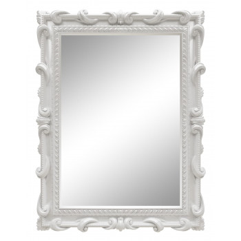 Зеркало настенное в белой раме «Лива» Белый глянец