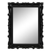 Зеркало настенное в чёрной раме «Лива» Чёрный глянец