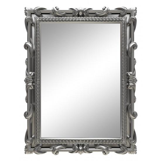 Зеркало настенное в серебряной раме «Лива» Серебро в интернет-магазине ROSESTAR фото