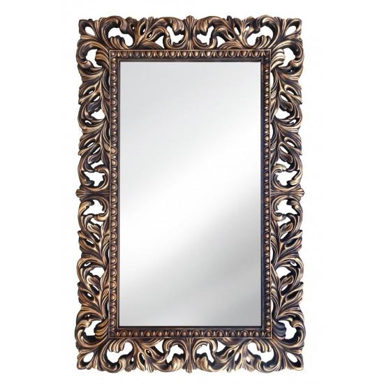 Зеркало настенное в раме «Анника» Венге/золото в интернет-магазине ROSESTAR фото