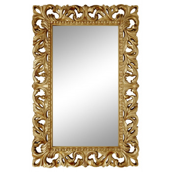 Зеркало настенное в золотой раме «Анника» Золото/патина