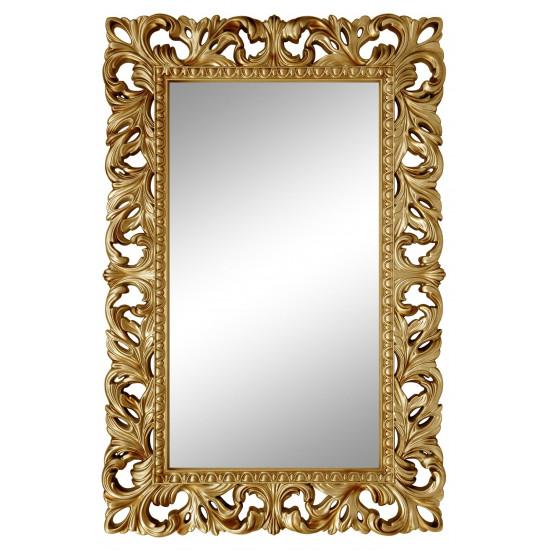 Зеркало настенное в золотой раме «Анника» Золото/патина в интернет-магазине ROSESTAR фото