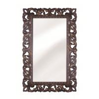 Зеркало настенное в раме «Анника» Красное дерево/золото