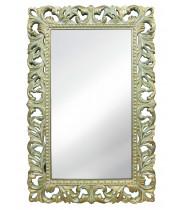 Зеркало настенное в раме «Анника» Олива/золото/патина