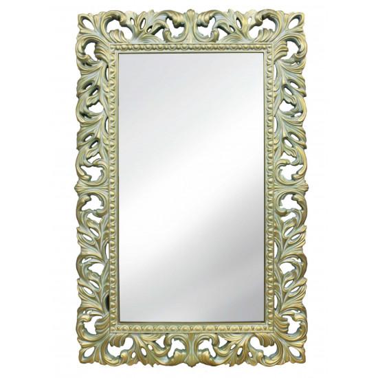 Зеркало настенное в раме «Анника» Олива/золото/патина в интернет-магазине ROSESTAR фото