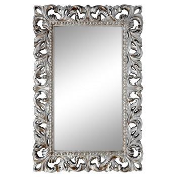 Зеркало настенное в серебряной раме «Анника» Серебро/патина
