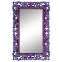 Зеркало настенное в сиреневой раме «Анника» Сирень/серебро