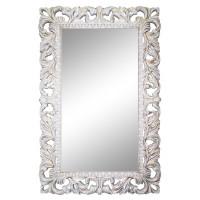 Зеркало настенное в белой раме «Анника» Белый/золотая патина