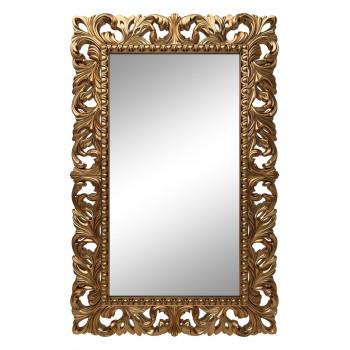 Зеркало настенное в золотой раме «Анника» Золото королевское/патина