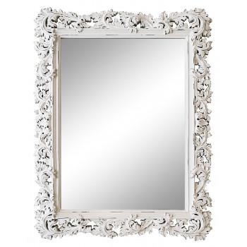 Зеркало настенное в белой раме «Фрея» Белое/шебби шик
