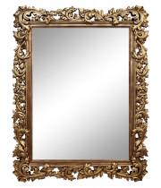 Зеркало настенное в золотой раме «Фрея» Золото/патина