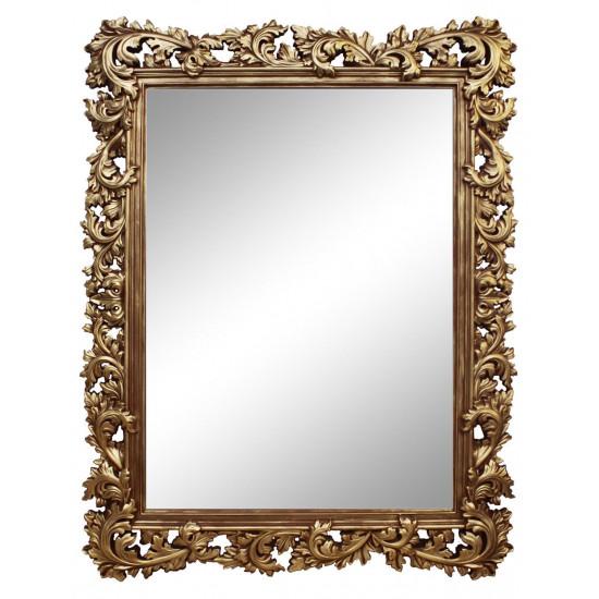Зеркало настенное в золотой раме «Фрея» Золото/патина в интернет-магазине ROSESTAR фото