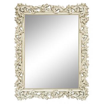 Зеркало настенное в раме «Фрея» Слоновая кость/шебби