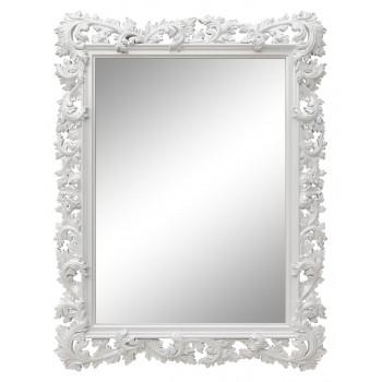 Зеркало настенное в белой раме «Фрея» Белый глянец