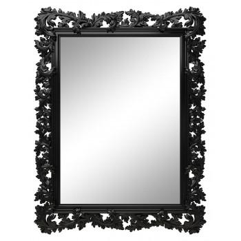Зеркало настенное в чёрной раме «Фрея» Чёрный глянец