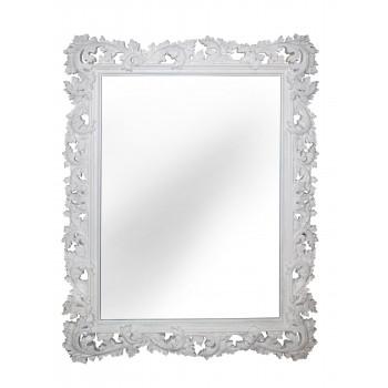 Зеркало настенное в белой раме «Фрея» Белый RAL9010/кракелюр