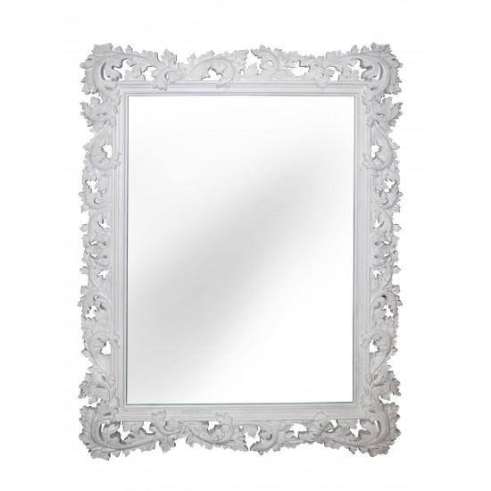 Зеркало настенное в белой раме «Фрея» Белый RAL9010/кракелюр в интернет-магазине ROSESTAR фото
