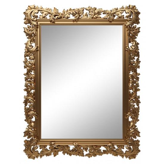 Зеркало настенное в золотой раме «Фрея» Золото королевское в интернет-магазине ROSESTAR фото