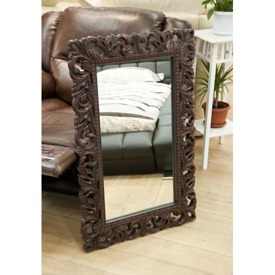 Зеркало настенное в раме «Отталиа» Красное дерево в интернет-магазине ROSESTAR фото